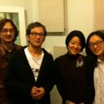 左からピアノのビアンさん、ゴロー、ナオミ、チェロのチェさん